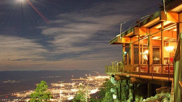 Peaks Restaurant at Night